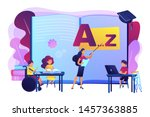 disabled children studying in... | Shutterstock .eps vector #1457363885