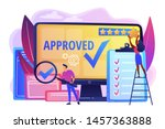 approval mark. product... | Shutterstock .eps vector #1457363888