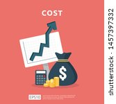 cost fee spending increase with ... | Shutterstock .eps vector #1457397332
