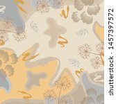 floral silk scarf pattern.... | Shutterstock .eps vector #1457397572