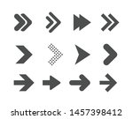 arrows flat symbol isolated on ... | Shutterstock .eps vector #1457398412