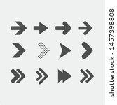 arrows flat symbol isolated on ...