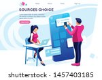 schedule appointment. office.... | Shutterstock .eps vector #1457403185