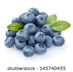 blueberries on white background  | Shutterstock . vector #145740455