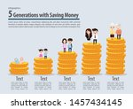people generations with... | Shutterstock .eps vector #1457434145