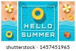 vertical banners set on the... | Shutterstock .eps vector #1457451965