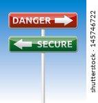isolated vector danger and... | Shutterstock .eps vector #145746722