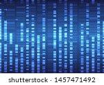 genomic data analysis... | Shutterstock .eps vector #1457471492