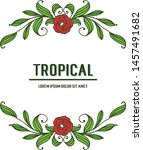 greeting card tropical ... | Shutterstock .eps vector #1457491682