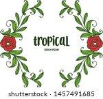 tropical plant  ornate frame... | Shutterstock .eps vector #1457491685