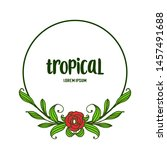 decor of card tropical with... | Shutterstock .eps vector #1457491688
