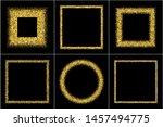 set of gold frames. golden... | Shutterstock .eps vector #1457494775