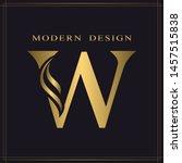 elegant capital letter w.... | Shutterstock .eps vector #1457515838