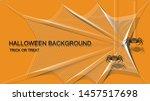 trick or treat halloween banner ... | Shutterstock .eps vector #1457517698