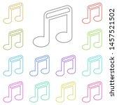 music note multi color icon....