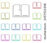 book multi color icon. simple...