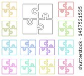 puzzle icon multi color icon....