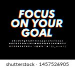 rgb anaglyph text style for... | Shutterstock .eps vector #1457526905