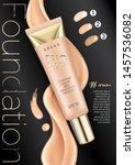foundation makeup  advertising... | Shutterstock .eps vector #1457536082