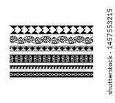 maori black and white texture... | Shutterstock .eps vector #1457553215
