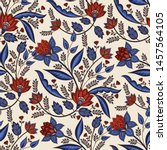 indian floral paisley pattern... | Shutterstock .eps vector #1457564105
