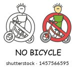 funny vector bicyclist stick... | Shutterstock .eps vector #1457566595
