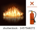 hot burning glowing concept... | Shutterstock .eps vector #1457568272