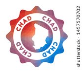 chad low poly logo. colorful... | Shutterstock .eps vector #1457570702