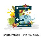 Tropical Exotic Letter E ...