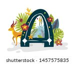 Tropical Exotic Letter A ...