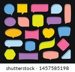quote colorful frames textboxes ... | Shutterstock .eps vector #1457585198