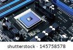 integrated motherboard...   Shutterstock . vector #145758578