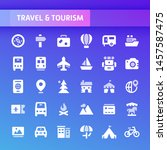 eps10 vector icons related to... | Shutterstock .eps vector #1457587475