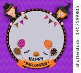 illustration vector of happy... | Shutterstock .eps vector #1457599805