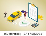 car insurance concept with car... | Shutterstock .eps vector #1457603078