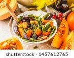 Autumn Salad From Baked Pumpkin ...