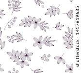 black and white elegant leaves...   Shutterstock .eps vector #1457619635