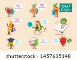 back to school vector cartoon... | Shutterstock .eps vector #1457635148