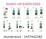 warm up exercise set before... | Shutterstock .eps vector #1457642282