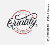 quality premium hand written... | Shutterstock .eps vector #1457646122