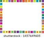 bright horizontal frame with... | Shutterstock .eps vector #1457649605