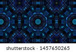 abstract kaleidoscope... | Shutterstock . vector #1457650265