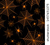 Halloween Theme Spiderweb And...