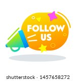 Follow Us Banner  Poster With...