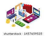 modern isometric smart zcash... | Shutterstock .eps vector #1457659535