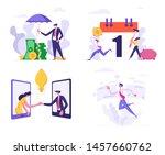 set business man cover heap of... | Shutterstock .eps vector #1457660762
