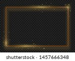 vintage gold shiny glowing... | Shutterstock .eps vector #1457666348