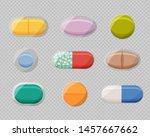 set of realistic pills blisters ... | Shutterstock .eps vector #1457667662