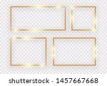 vintage gold shiny glowing... | Shutterstock .eps vector #1457667668