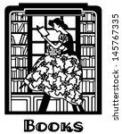 Librarian Motif   Retro Clip...